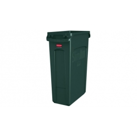 Rubbermaid Vented Slim Jim Waste Contianer 23gal Waste Containers - RCP1956186 - Each, 4/cs