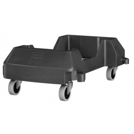 Rubbermaid Resin Trainable Dolly For Slim Jim Containers Waste Containers Black Resin Material - RCP1980602 - 2/cs