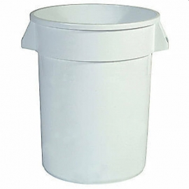 Rubbermaid Brute Branded Container 10gal Waste Containers Without Lid - RCP261088WHT - Each