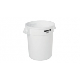 Rubbermaid Brute Non-Branded Ingredient Container 20gal Waste Containers Without Lid - RCP262088WHT - Each