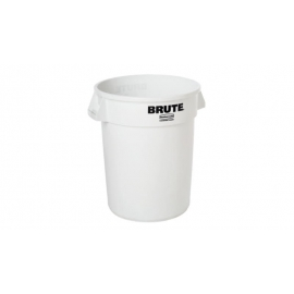 Rubbermaid Brute Non-Branded Ingredient Container 32gal Waste Containers Without Lid - RCP263288WHT - Each