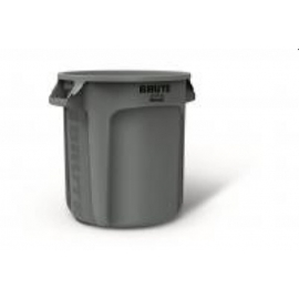Rubbermaid Brute Waste Container 10gal Without Lid - RCPFG261088WHT - 6/pk