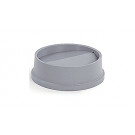 Rubbermaid Untouchable Round Swing Lid - RCPFG267200GRAY - Each 4/cs