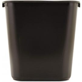 Rubbermaid Vanity Black Wastebasket 28Qt - RCPFG295600BLA - 12/cs