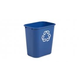 Rubbermaid Waste Basket Recycling Medium 28Qt - RCPFG295673BLUE - Each, 12/cs