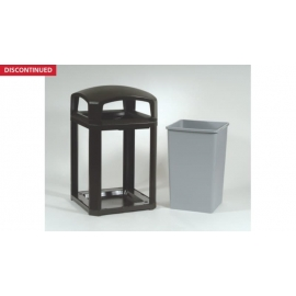 Rubbermaid Landmark Series Classic Waste Container Dome Top Frame With Lock Option - RCPFG397088BLA - Each