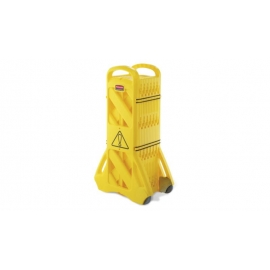 Rubbermaid Yellow Portable Mobile Barrier Safety &Cleaning signs - RCPFG9S1100YEL - Each