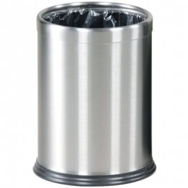 Rubbermaid Hide-A-Bag Waste Basket 3.5gal Stainless Steel - RCPFGWHB14SS - Each