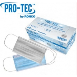 RONCO Earloop Surgical Masks One Size PM3, No Latex - RNC-5612 - 50/bk, 20bk/cs