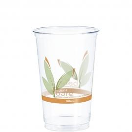 Dart Solo Bare Eco-Forward 20 oz RPET Ultra Clear Plastic Cups Leaf Design - RTN20BARE - 1000/cs