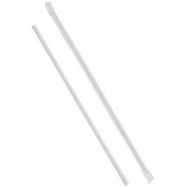 8in White Mikeshake Straw Wrapped - SJ100IWW - 500/bx, 24bx/cs