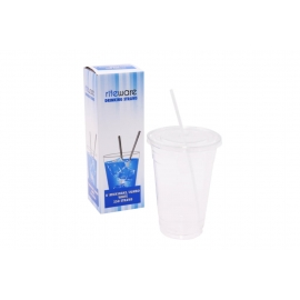 RiteWare 8in White Milkshake Straws - SP0810 - 250/bx