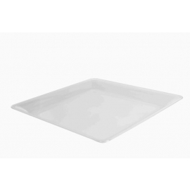 """Fineline Settings Clear Plastic Square Cater Tray 16""""X16"""" Speciality Food Service Supplies - SQ4616CL - 20/cs"""