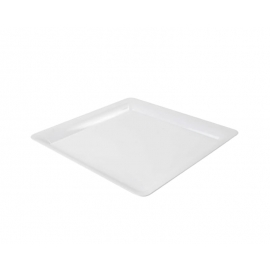 """Fineline Settings White Plastic Square Cater Tray 16""""X16"""" Speciality Food Service Supplies - SQ4616WH - 20/cs"""