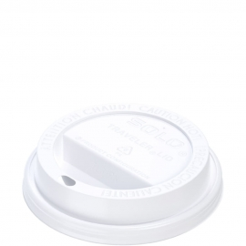 Dart Solo Traveler Cappuccino White Dome Lids fits 10 oz Paper Hot Cups - TL31R2-0007 - 1000/cs