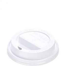 Dart Solo Traveler Cappuccino White Dome Lids fits 8 oz Paper Hot Cups - TL38R2-0007 - 1000/cs