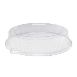 Pactiv High Oval Dome Lid fits TV7404 - TV7945P - 25/cs