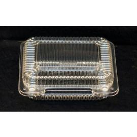 "Vespa Small Plastic Container 6.75"" x 5.88"" x 2.25"" Plastic Hinged Container - VEL070 - 600/cs"