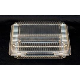 """Vespa Plastic Container 9.75"""" x 8.1"""" x 3"""" Plastic Hinged Container - VEL074 - 250/cs"""