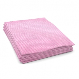 "Cascades PRO Economy Foodservice Towel Pink Hand Towels 12"" x 21"".25 Fold - W903"