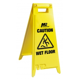 "Floor Sign ""Caution Wet Floor"" 28"" English/French - WF-7003"