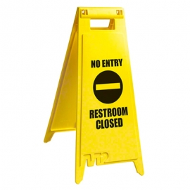 "Floor Sign ""No Entry Restroom Closed"" 28"" English - WF-7008"