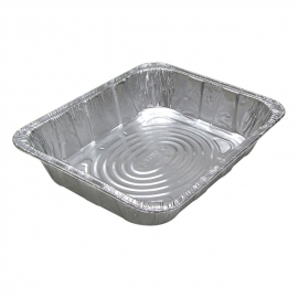 Pactiv Deep Half Size Steam Pans Fits Lid Y101230 - Y6132H - 100/cs