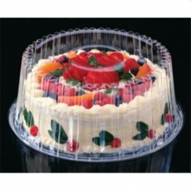 """Pactiv Shallow Dome Cake Container 8"""" - YI898020000 - 100/cs"""