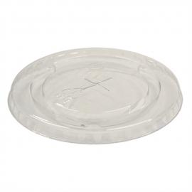 Pactiv Clear Flat Lid with Slot fits 9 oz-20 oz Plastic Cups - YLP20C - 1020/cs