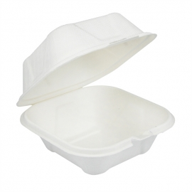"""Pactiv EarthChoice Bagasse 6"""" X 6"""" Paper Container - YMCH00800001 - 500/cs"""