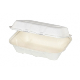 """Pactiv EarthChoice Bagasse 9"""" X 6"""" Paper Container - YMCH00890001 - 150/cs"""