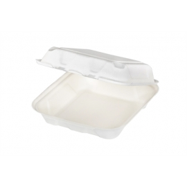 """Pactiv EarthChoice Bagasse 8"""" x 8"""" Paper Container - YMCH08010001 - 150/cs"""