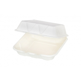 """Pactiv EarthChoice Bagasse 9"""" x 9"""" Paper Container - YMCH09010001 - 150/cs"""