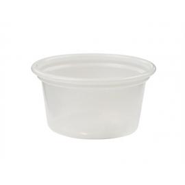 Pactiv 1/2 oz Translucent Plastic Portion Cups - YS075 - 5000/cs