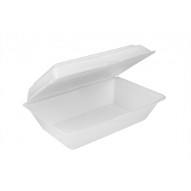 """Pactiv All Purpose Foam Hinged Container 9.125"""" x 6.125"""" x 3.25 - YTH100890000 - 200/cs"""
